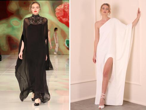 שמלות ערב בעיצוב תמרה סלם, צילומים: אבי ולדמן, פיני חמו
