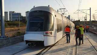 """הרכבת הקלה נסיעת מבחן בקו האדום, נת""""ע"""