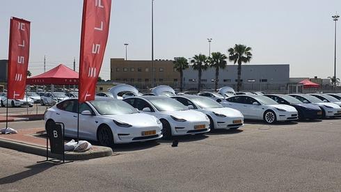 מכוניות טסלה מחכות לרוכשים בנמל אשדוד, פטר קלנר