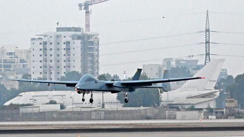 """מל""""ט הרון של התעשייה האווירית, צילום: אלון רון, התעשייה האווירית"""
