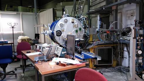 בדיקת מערכות חלליות של רמון ספייס במאיץ חלקיקים, צילום: Ramon Space