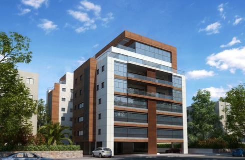 הפרויקט בבורוכוב 35. בוני בניין אחראית על בניית כמה מהמבנים המזוהים ביותר עם רעננה , הדמיה: באדיבות קבוצת בוני בניין