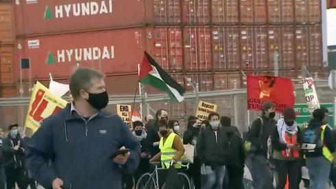 עובדי נמל באוקלנד שבקליפורניה סרבו לפרוק אוניה ישראלית