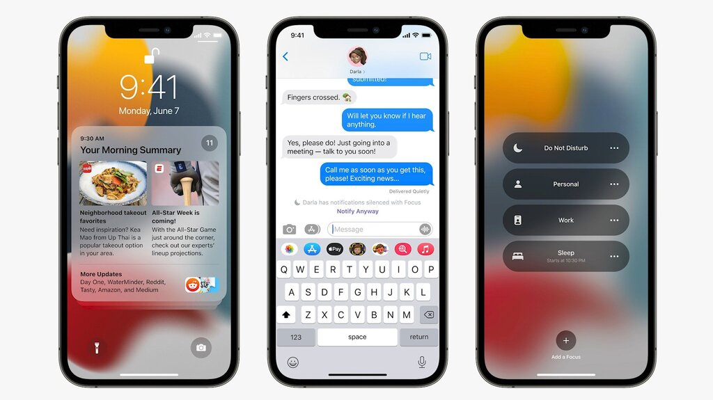 שורת כלים  אפליקציית המסרים  כנס המפתחים השנתי של אפל WWDC 2021