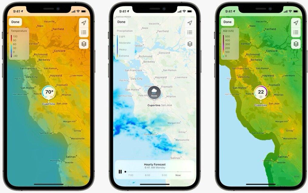 אפליקציית מזג האוויר  כנס המפתחים השנתי של אפל WWDC 2021