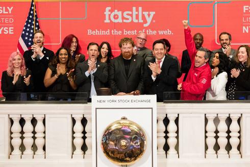פסטלי fastly בהנפקה שלה בוול סטריט באפריל 2019, צילום: NYSE