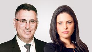 מימין איילת שקד ו גדעון סער, צילומים: עמית שעל, אוראל כהן