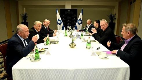 ראשי המפלגות של הממשלה החדשה, צילום: רענן כהן