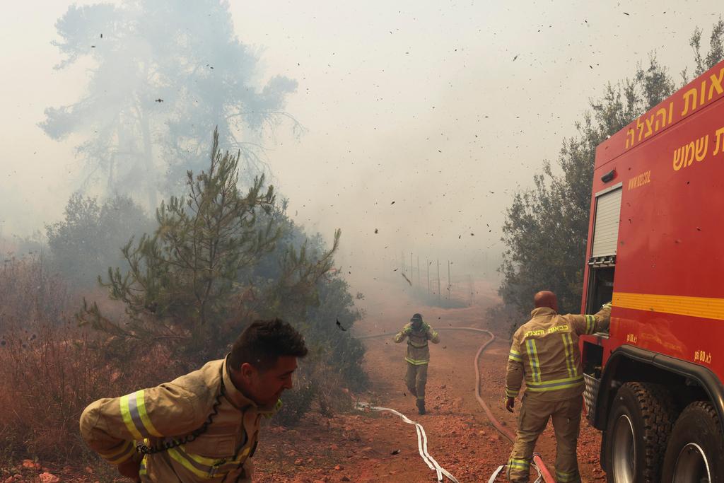 שריפה שריפות ב הרי ירושלים מול נווה אילן 2
