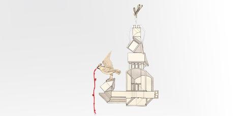 יצירות של נלי אגסי מתוך התערוכה הורוטופיה, באדיבות: נחום גוטמן