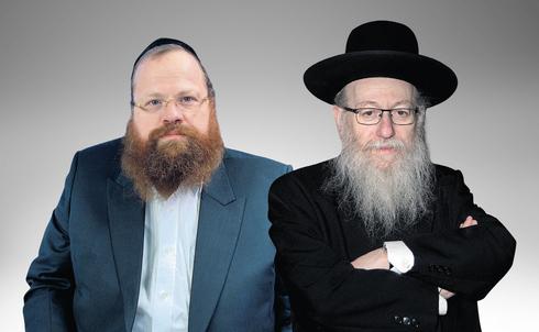 מימין: יעקב ליצמן ועוזרו לשעבר החשוד בקבלת שוחד מנחם גשייד, צילום: אוהד צויגנברג, כיכר השבת