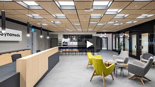 מרכז הבקרה והפיתוח של סינמדיה בעיצוב גרינהאוז אדריכלים, צילום: אליאור תורג'מן
