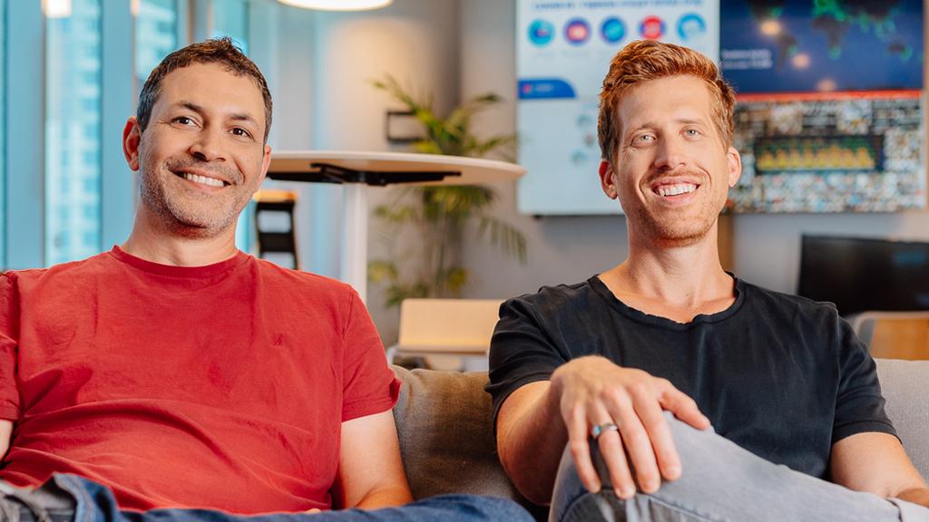 monday.com co-founders Eran Zinman and Roy Mann. Photo: Nethaniel Tobias