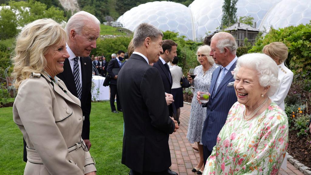 ג'ו ביידן המלכה אליזבת כינוס G7