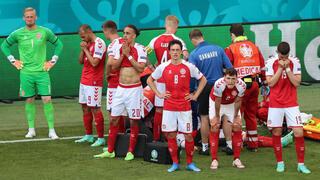 יורו 2020 שחקני דנמרק בהלם לאחר ש כריסטיאן אריקסן התמוטט ועבר החייאה