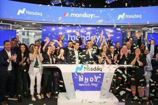 חגיגת פתיחת מסחר Monday.com מאנדיי ב נסאדק, צילום: Nasdaq