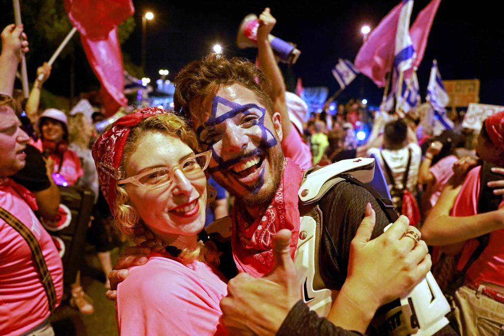 ירושלים מול ה כנסת חגיגות חגיגה של השבעת הממשלה ממשלת השינוי