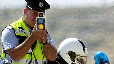 משטרת התנועה משטרה לייזר מהירות מופרזת