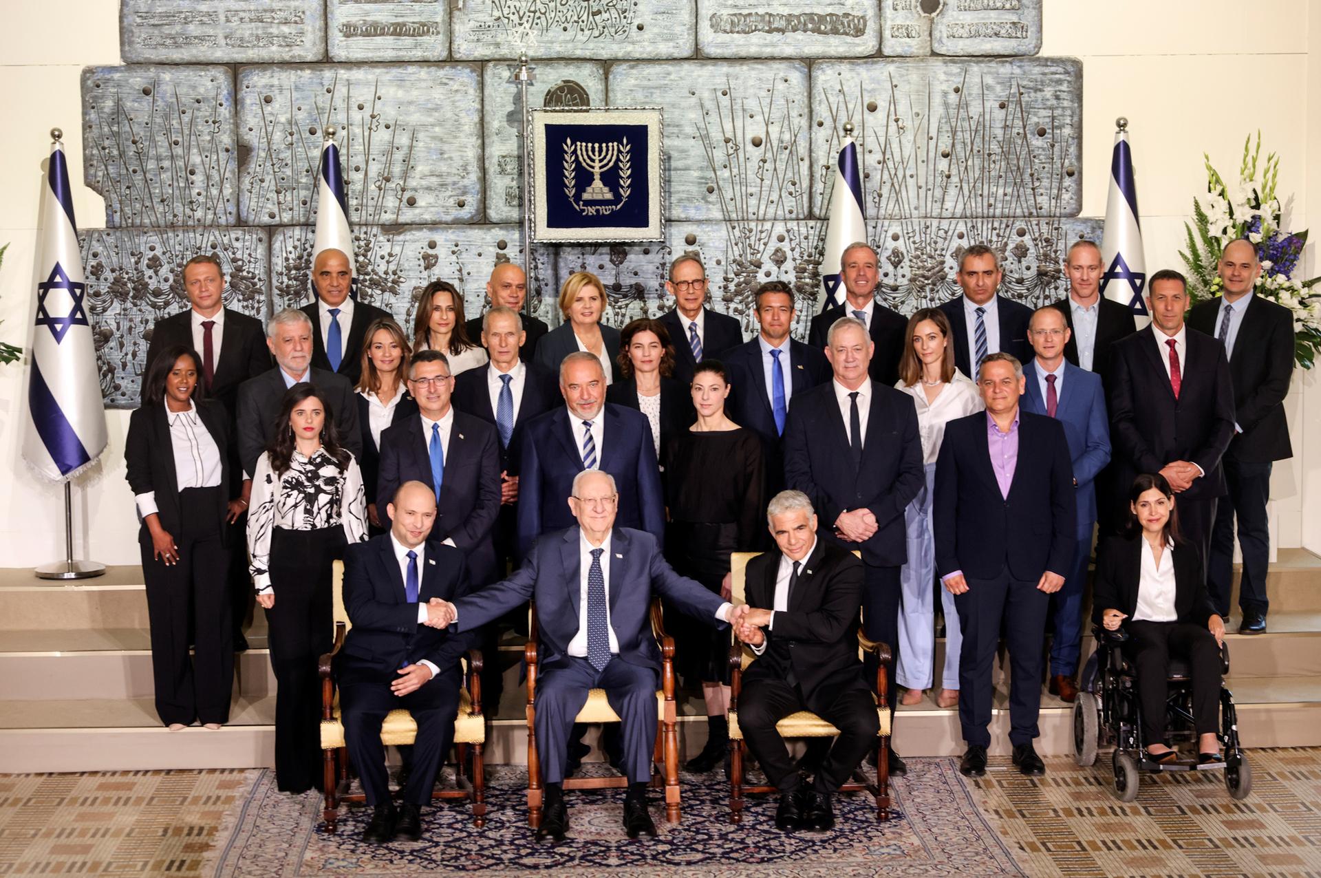 פוטו השבעת ממשלה תמונה עם הנשיא