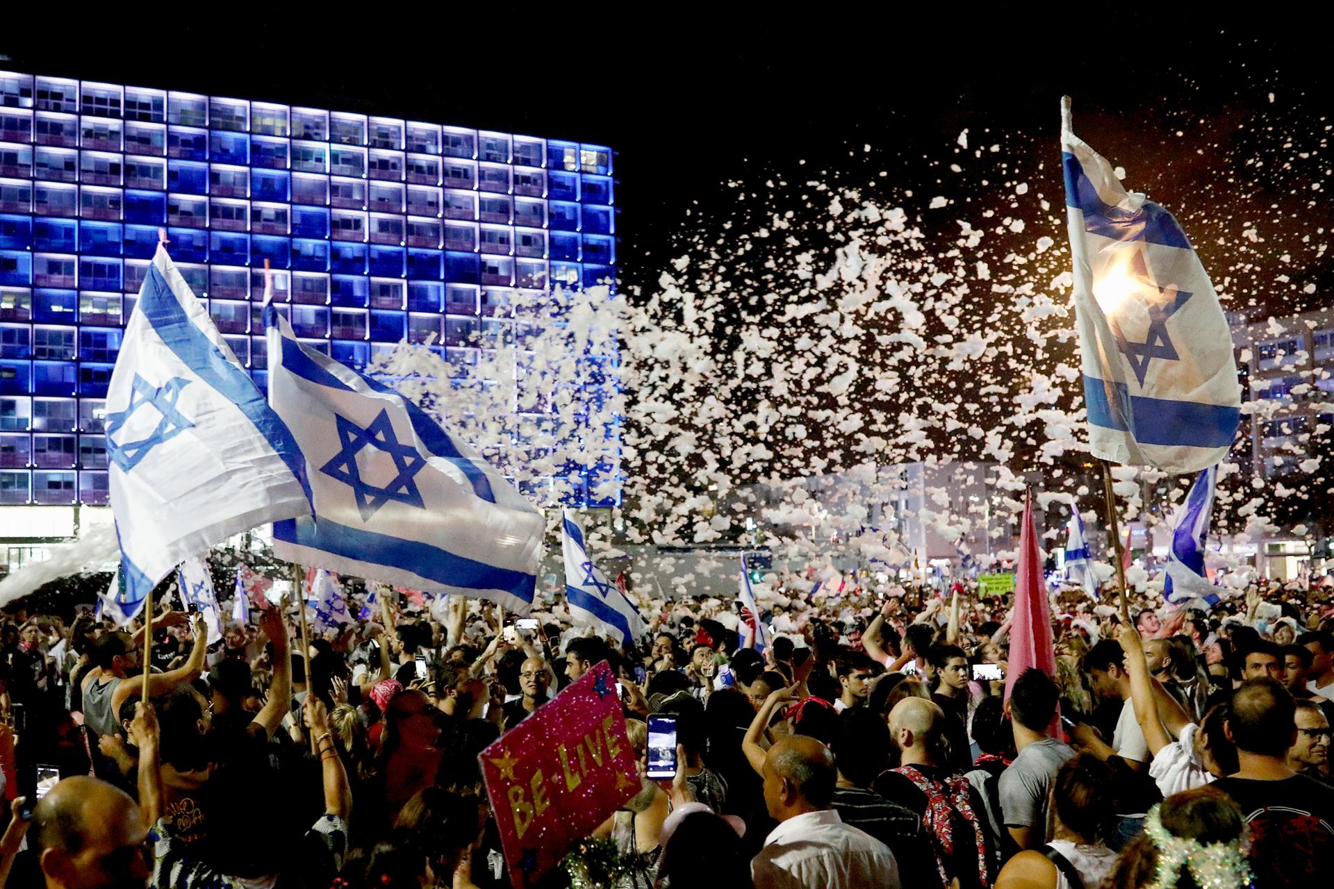 פוטו השבעת ממשלה חגיגות בתל אביב