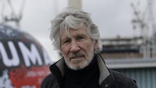 רוג'ר ווטרס  הפגנה לונדון לשחרור ג'וליאן אסאנג' פברואר 2020, צילום: AP