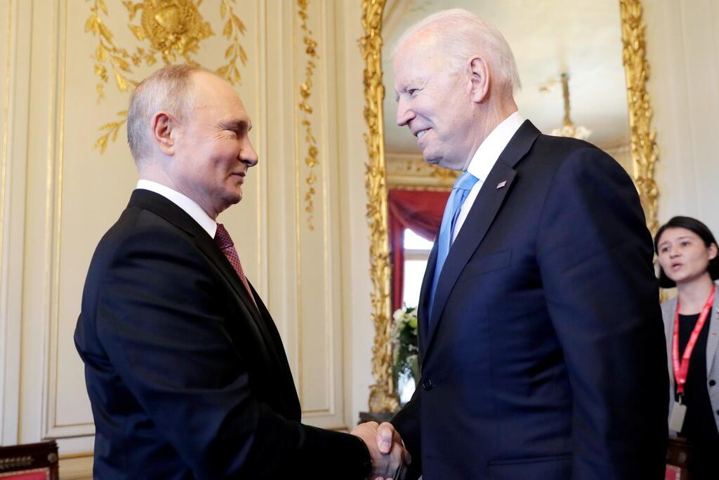 פגישת ביידן פוטין ז'נווה 16 יוני 2021