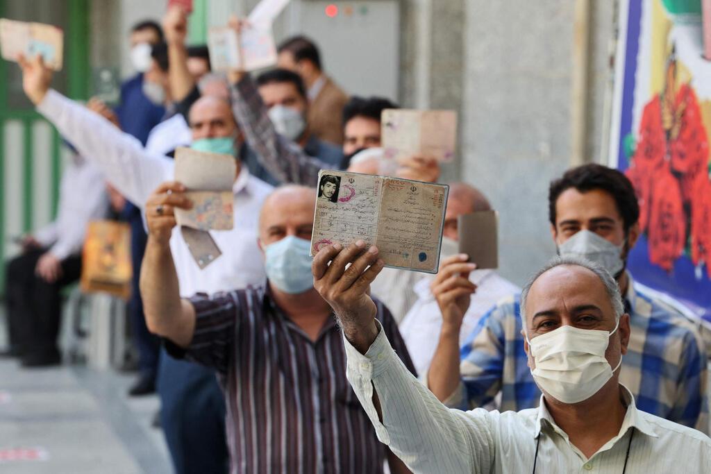 תור לקלפיות ב טהרן איראן בחירות