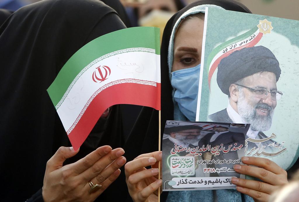 תומכת של איברהים ראיסי נשיא איראן החדש ב טהרן