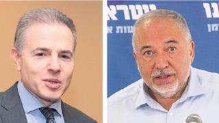 מימין אביגדור ליברמן ו דני נווה , צילומים: עמית שאבי, אוראל כהן
