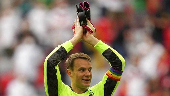 מנואל נוייר שוער נבחרת גרמניה סרט קהילה גאה יורו 2020, איי פי