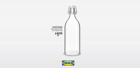 הגימיק של איקאה: קראה לבקבוק מים על שמו של כריסטיאנו רונאלדו