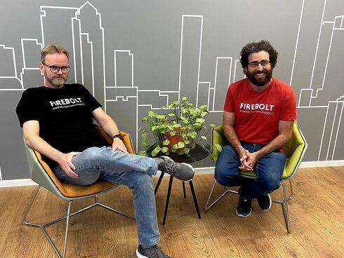 מייסדי החברה אלדד פרקש (מימין) וסער ביטנר , צילום:  Firebolt