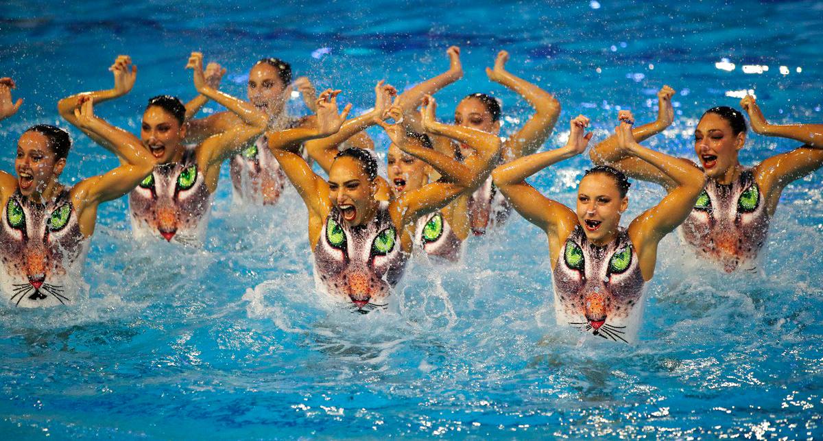 פוטו מתכוננים לאולימפיאדת טוקיו שחיה אמנותית נבחרת יוון