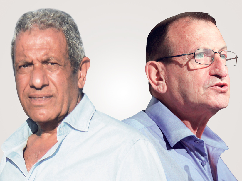 מימין ראש עיריית תל אביב רון חולדאי וראש עיריית אילת היוצא מאיר יצחק הלוי