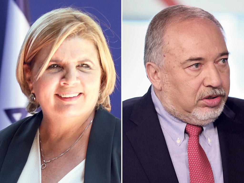 מימין שר האוצר אביגדור ליברמן ושרת הכלכלה אורנה ברביבאי