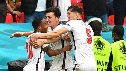 שחקני נבחרת אנגליה חוגגים, צילום: EPA