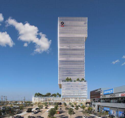 הדמיה של המגדל הראשון מעל סינמה סיטי בראשון לציון , הדמיה: ויופוינט