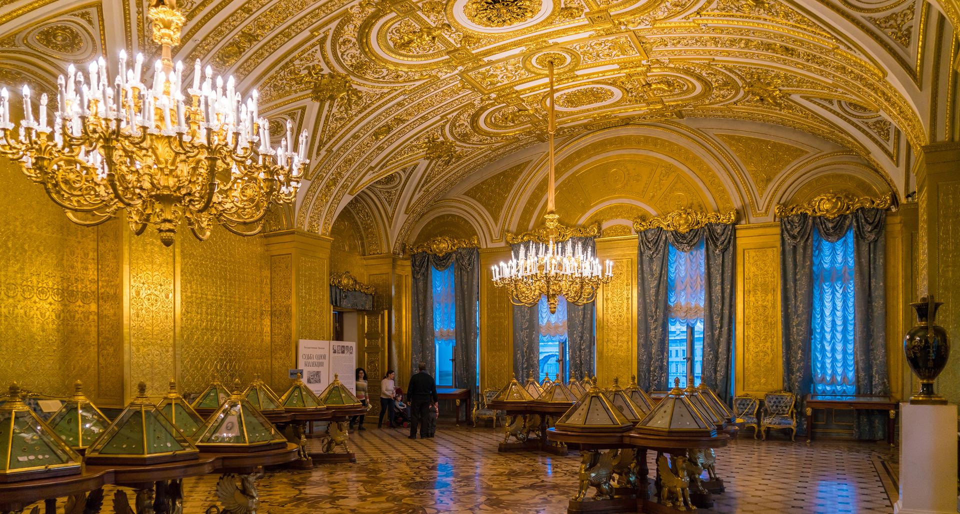 פוטו מבנים מזהב סנט פטרסבורג רוסיה The Gold Drawing Room in the Winter Palace