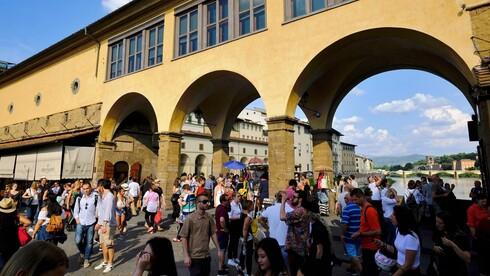 פירנצה עמוסת תיירים , צילום: AFP