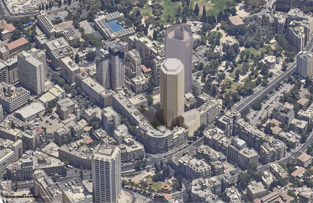 הדמיית פרויקט מתחם פזגז ב ירושלים