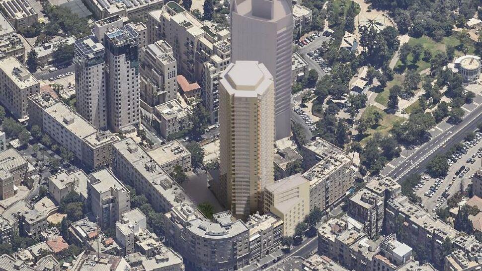 """תוכנית """"המגדל המשושה"""" במרכז ירושלים אושרה בוועדה המחוזית"""