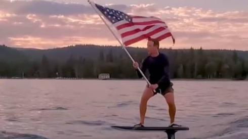 מארק צוקרברג גולש ביום העצמאות 4 ביולי 2021, צילום: Instagram