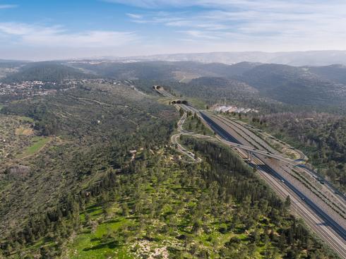הדמיית כביש 39 באזור הרי יהודה, הדמיה: חברת נתיבי ישראל