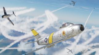 הקברניט קרב אוויר מיגים F86 מלחמת קוריאה 1