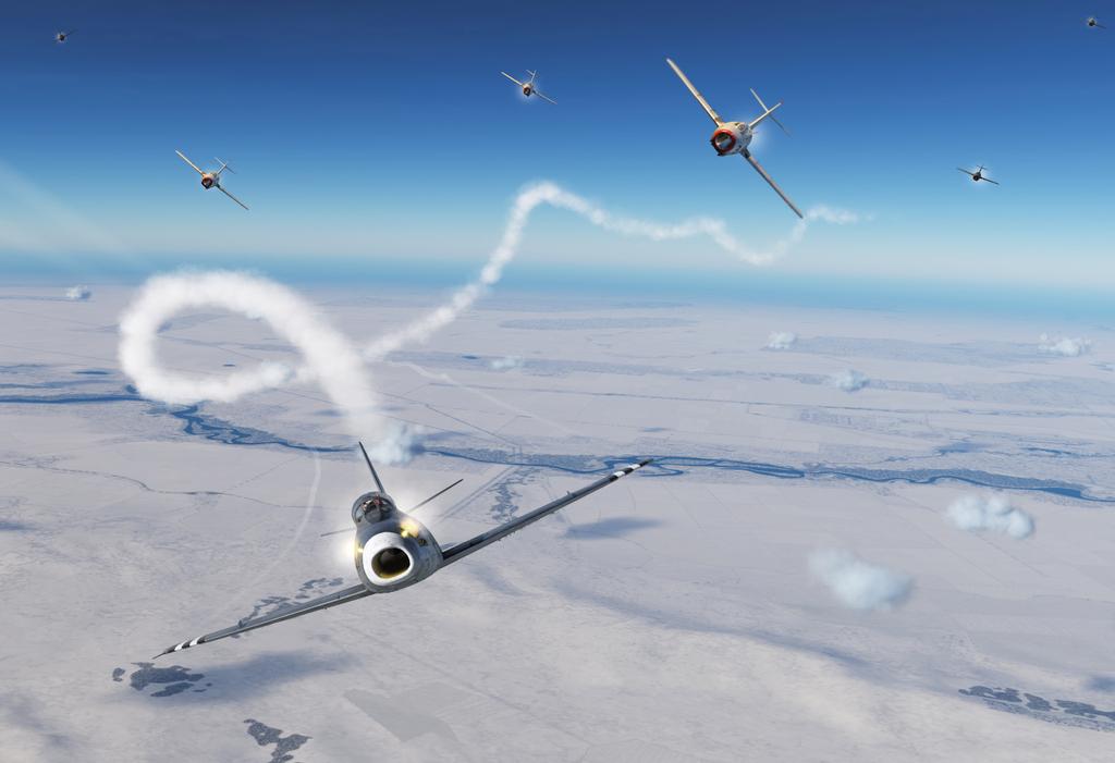 הקברניט קרב אוויר מיגים F86 מלחמת קוריאה