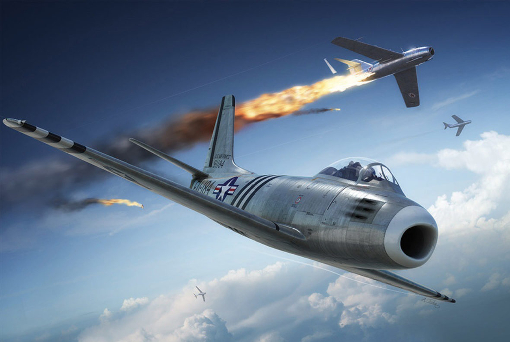 הקברניט קרב אוויר מיגים F86 מלחמת קוריאה 11