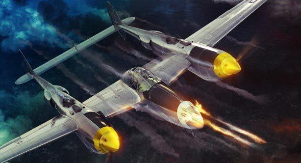 לוקהיד לייטנינג P38 מטוס קרב מלחמת העולם השנייה