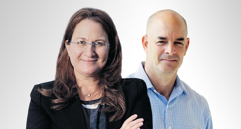 """מימין: אייל חנקין מנכ""""ל קבוצת עזריאלי ו דנה עזריאלי, יו""""ר הקבוצה"""