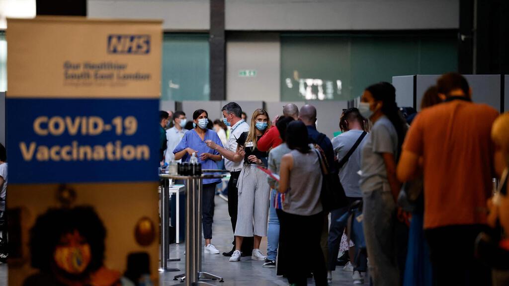 תור חיסונים קורונה לונדון