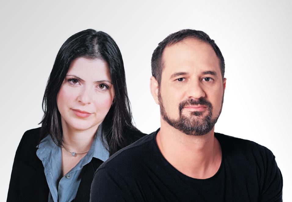 """מימין: טל דורי מנכ""""ל ,IBI CAPITAL ו אודליה פולק מנכ""""לית איזופ"""